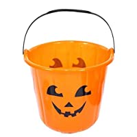 Scary Pumpkin Bucket Halloween Trick Treat Kids Child