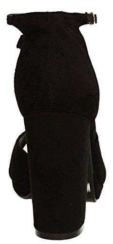 SwankySwans , Damen Sandalen schwarz schwarz Schwarz