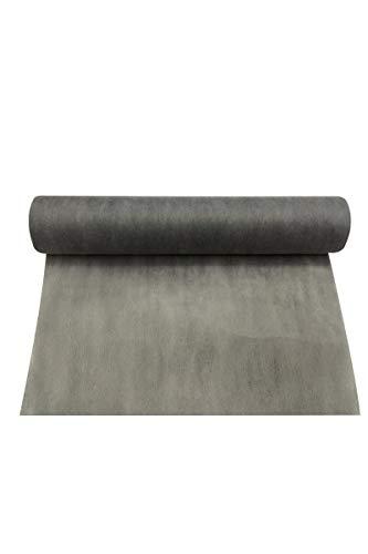 Smiffy's - Chemin de table gris rouleau intisse 30cmx 5m
