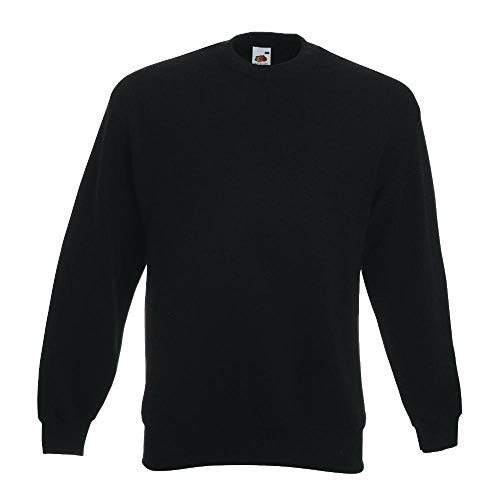 Fruit of the Loom - Sweatshirt 'Set-In' XL,Black (Fruit Of The Loom)
