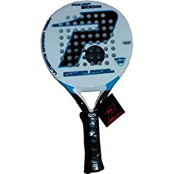 Power Padel 1000 800 - Pala, color blanco / negro / azul, 38 mm
