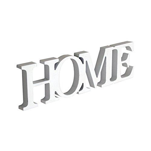 Rebecca Srl Schriftzug Dekoration Wort Buchstaben Home hängend weiß Holz Wand Zuhause (Code (Home Dekorationen)