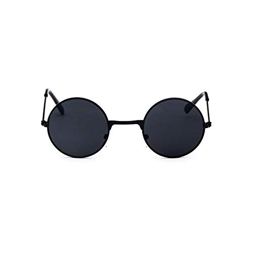 Sonnenbrille Coole Retro Schwarz Blau Runde Kids Sonnenbrille Little Girl/Boy Baby Kind Brille Schutzbrille Uv400 Kleines Gesicht Dunkel Grau