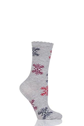 Charnos flocon de neige chaussettes en bambou - 1 paire - Multicolore 37-40