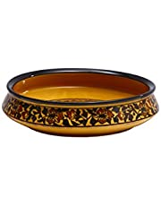 Caffeine Ceramic Handmade Decorative Bowl 10 Inch (1 Pc)