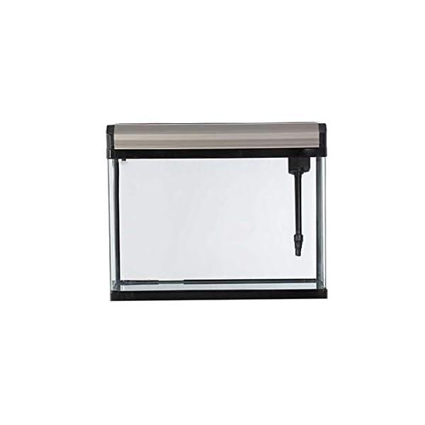 Fish Tank Aquarium Living Room Home Small Lazy Waterless Ecological Goldfish Tank Medium Glass Rectangle (Color : A)