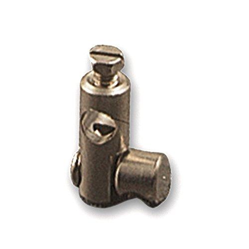 Bornes Double mm.6 pour tringles sautade, bornes doubles en laiton chromé pour barre écoulement ø mm.6 (Nombre pièces pour emballage 25)