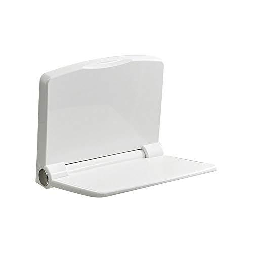 SXRL duschstuhl klappbar wandmontage, duschhocker stabil kunststof, badehocker duschsitz Unabhängigkeit und Stabilität, Behinderte, duschhilfe für senioren(Weiß), White