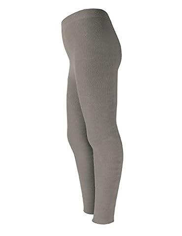 maximo Mädchen Legging Vollfrottee, Gr. 110 (Herstellergröße: 110/116), Grau (graumeliert 5)