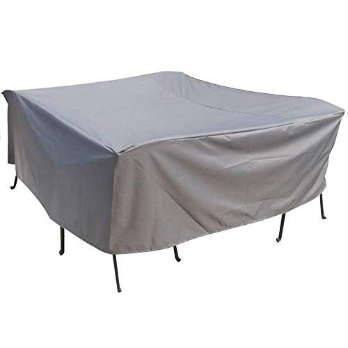 ZEMIN Gartenmöbel Abdeckung Abdeckplane Schutzhülle Tisch Quadrat Schutz Terrasse Draussen Sonnenschutz Regendicht Oxford-Tuch, Anpassbare, 11 Größen (Farbe : Silber, größe : 360x250x90cm) -