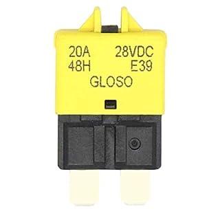 NO LOGO ZWQ-Spring Mini DC28V Auto-5A / 7,5A / 10A / 20A / 25A / 30A Manual Reset Sicherung ATC Circuit Breaker Blade Fuse for Auto-LKW-Boots-Marine-Fahrzeug (Farbe : Gelb)