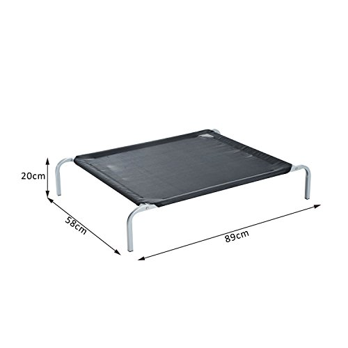 PawHut-Elevated-Pet-Bed-Portable-Camping-Raised-Dog-Bed-w-Metal-Frame-Black-Small