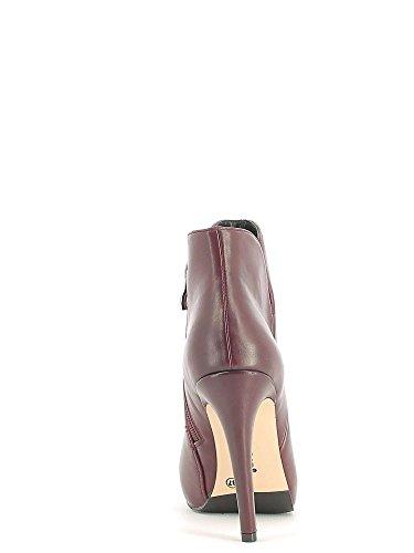 CAF NOIR MF902 chaussures noires femme bottines glissière latérale talon I16.1736 BORDEAUX