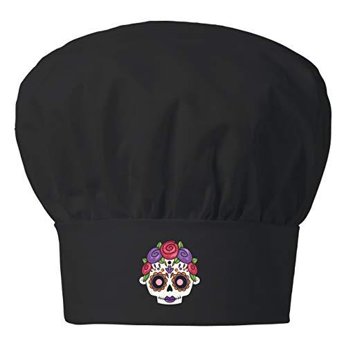 My Custom Style Cappello Chef Nero Cotone#Halloween-Teschio_1#27,5x20
