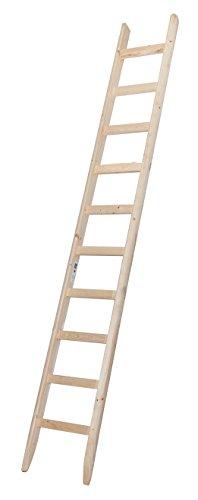 Escalera de madera, 10 peldaños.