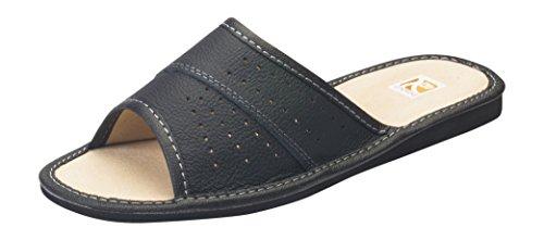 Femmes confort luxe authentique cuir chaussons pantoufles taille 36-41