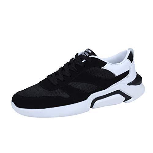 ZHANSANFM Sportschuhe Herren Laufschuhe Atmungsaktiv Straßenlaufschuhe Fitness Trekking Sneaker Air Cushion Turnschuhe Leichtgewicht Jogging Running Gr.39-44(40Weiß