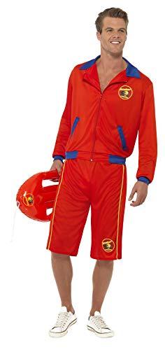 Smiffys, Herren Baywatch Strand Rettungsschwimmer Kostüm, Jacke und Lange Shorts, Größe: L, - Aufblasbare Kostüm Billig