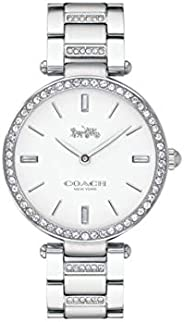 Coach Women'S White Dial Stainless Steel With Crystal Watch - 1450