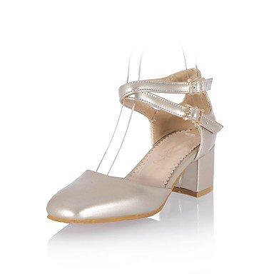 LvYuan Da donna-Sandali-Formale Casual Serata e festa-Altro-Quadrato-PU (Poliuretano)-Nero Blu Rosa Rosso Bianco Dorato Pink