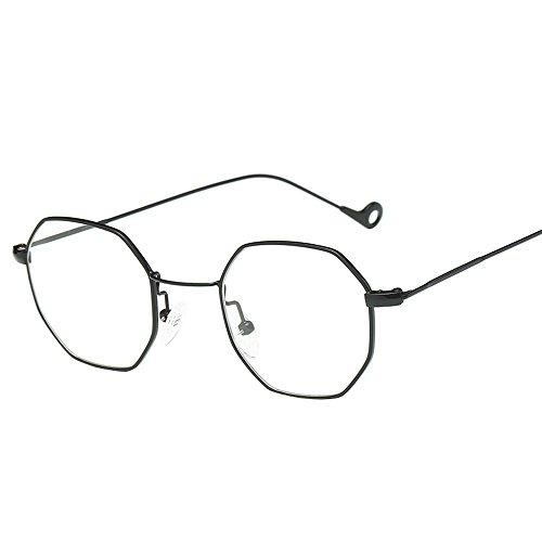 4d2a3c83c4 ZODOF Gafas de Sol,Lentes Transparentes Gafas Metal Espectáculo Marco  Miopía Gafas para Mujer y