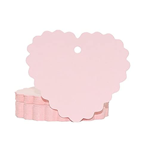 eKunSTreet ® 50PCS Pink Wave Edge Love Heart Blank Paper