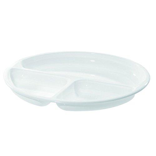 Westmark 22402270 Assiette à Compartiments pour Micro-Ondes Plastique Blanc Diamètre 25 cm