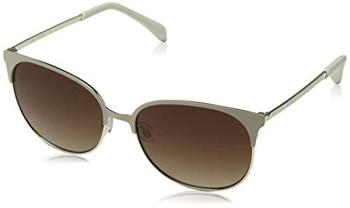 KAREN MILLEN Damen KM Collection Sonnenbrille, Elfenbein (Cream Gold), 57.0