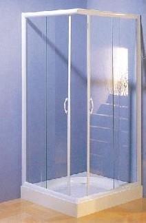 Dusche: Sanotechnik Eck-Duschkabine B13 - Farbe: Chrom, Abmessungen: 80 x 80 x 185 cm