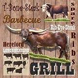 Servietten Ambiente GRILL , T-Bone Steak Grillserviette , 33x33cm, 3lagig 20 Stück Packung