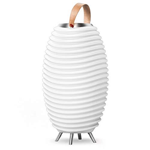 KOODUU Synergy 50 PRO - Tragbare Lampe mit warmweißem Licht (LED) und Bluetooth Soundsystem - Stereovariante zum Verbinden mit unendlich vielen Geräten - Eiskühler für Getränke