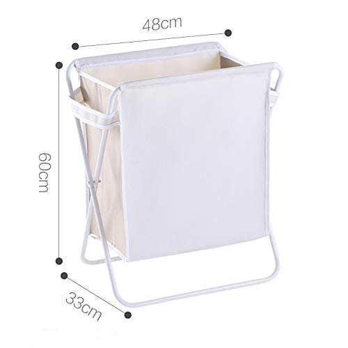 Gu3Je 2/ Sections Laundry Basket, Foldable Washing Basket, Fabric Laundry Hamper Multiple Specifications (Multicolor) Gray Medium 2 Cd Pocket Kit