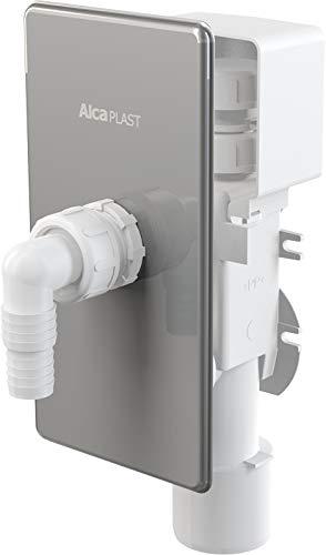 AlcaPlast APS3P Unterputz Gerätesiphon mit Rohrbelüfter Abwasseranschluss für Waschmaschine, Spülmaschine, Wärmepumpentrockner
