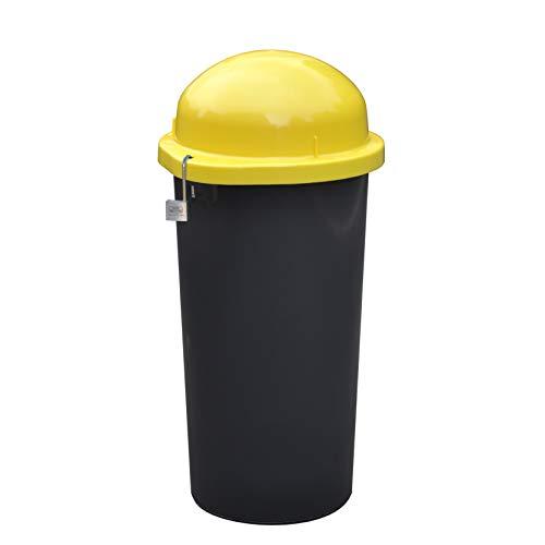 KUEFA Mülleimer / Gelber Sack Ständer - abschließbar (Gelb)
