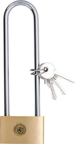 Kraftmann 3103 | Candado de latón | arco de cierre extra largo | 40 mm