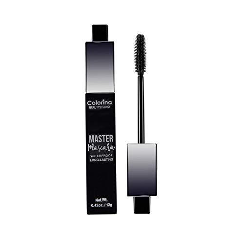 Mascara Wasserfeste Wimperntusche, 4D Silk Fibre Lash Mascara Schwarz für längere, dickere, voluminöse Wimpern, natürliches 4D Gel und Fasern