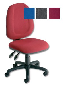 Trexus Plus High Back Chair Permanent Contact W460xD450xH480-590mm Backrest H520mm Burgundy