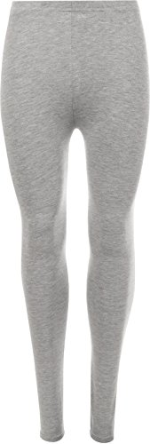 AK Garments - Leggings - Mujer Gris Plata Small/Medium