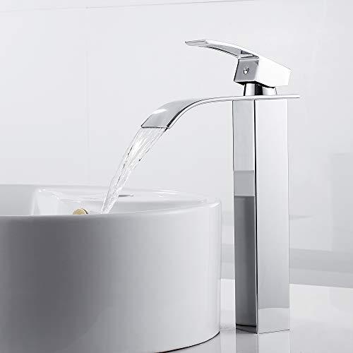 Miscelatore dal design allungato monocomando per lavandino con rubinetto cascata miscelatore monocomando per bagno