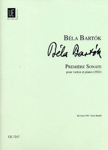 Universal Edition Bartok B.–primera Sonata–Violin and Piano Partition clásica cuerdas violín