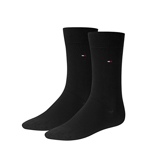 Tommy Hilfiger Herren Classic Casual Business Socken 6er Pack schwarz (43/46 - 6 Paar, 200 black)