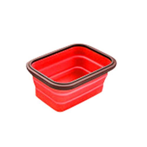 Yujeet Silikon Faltbare Lunch Bento Box Frischhaltedosen Stapelbare Outdoor Picknick Box Geeignet für Mikrowellenherd Vielseitig Einsetzbar zu Hause und im Freien