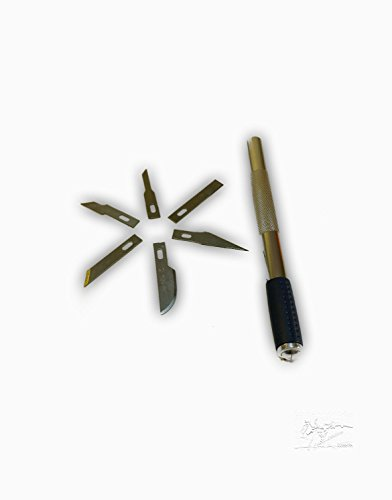 Preisvergleich Produktbild Präzisionsmesser-Set 6 tlg in Box Skalpell Messer Bastelmesser Klingen