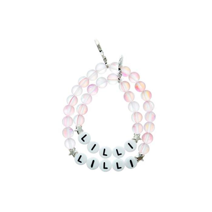 Tauf- Geburts- Namen- Baby- Kinder- und Mama-Armband-Set mit Schutzengel u. Ihrem Namen personalisiert