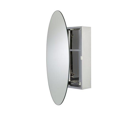 Croydex tay - armadietto ovale in acciaio inox