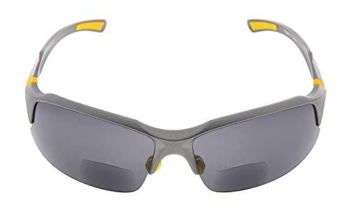 Eyekepper TR90 Unzerbrechliche Sport Bifocal Sonnenbrillen Baseball Laufen Angeln Fahren Golf Softball Wandern Halbrand Lesung Brille Grau Rahmen Grau Lens +1.0 -