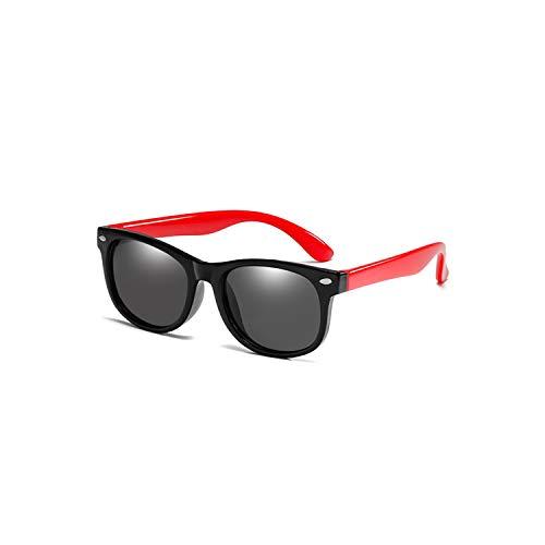 Vikimen Sportbrillen, Angeln Golfbrille,Flexible Polarisiert Kids Sunglasses Child Black Sun Glasses For Baby Girls Boy Sunglasses Eyeglasses 1.5-11 Years Kids Glasses Black Red