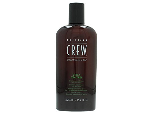 American Crew Classic 3-In-1 Tea Tree Champú, Acondicionador y Gel de Ducha - 450 ml