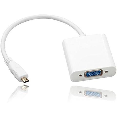 jmday Micro HDMI macho a VGA hembra Cable de vídeo adaptador convertidor