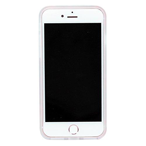 4.7 iPhone 7 SGSELLER TPU Slim Fit Ultra Dünn Stoßfest Anti-Kratz Anti-Fingerabdruck Matt Schutzhülle Gehäuse, Plastik (Marble (Black Green)) Floral (Mint)
